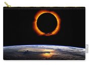 Solar Eclipse From Above The Earth 2 Carry-all Pouch