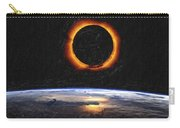 Solar Eclipse From Above The Earth Painting Carry-all Pouch