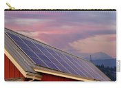 Solar Panels On Roof Of House Carry-all Pouch