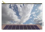 Solar Panels On Roof Top Carry-all Pouch