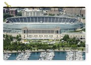 Soldier Field Stadium In Chicago Aerial Photo Carry-all Pouch