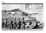 Soldiers And Their Tank Advance Carry-all Pouch