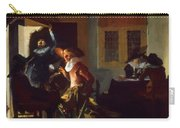 Soldiers Beside A Fireplace 1632 Carry-all Pouch