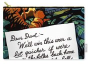 Soldier's Letter Home To Dad -- Ww2 Propaganda Carry-all Pouch
