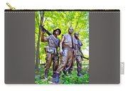 Soldiers Statue At The Vietnam Wall Carry-all Pouch