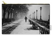 Solitary Man In The Snow Carry-all Pouch