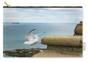 Solitary Seagull Take-off Carry-all Pouch