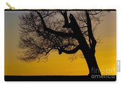 Solitary Tree At Sunset Carry-all Pouch