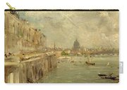 Somerset House Terrace From Waterloo Bridge Carry-all Pouch by John Constable