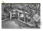 Somerset One Lane Bridge Black And White Carry-all Pouch