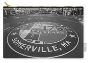 Somerville Ma Davis Square 175 Years Black And White Carry-all Pouch