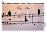 Songbirds With Border Carry-all Pouch