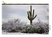 Sonora Desert Winter Carry-all Pouch