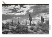 Sonoran Desert In Black And White  Carry-all Pouch