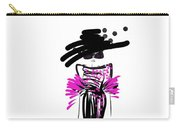 Sophisticated In Pink And Black Silk  Carry-all Pouch