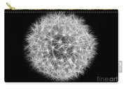 Soul Of A Dandelion Black And White Carry-all Pouch