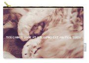 Sound Asleep Quote Carry-all Pouch