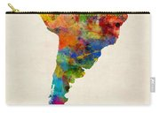 South America Watercolor Map Carry-all Pouch