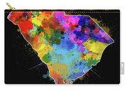 South Carolina Map Color Splatter 2 Carry-all Pouch