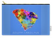 South Carolina Map Color Splatter 3 Carry-all Pouch