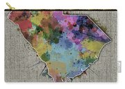 South Carolina Map Color Splatter 5 Carry-all Pouch