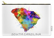 South Carolina Map Color Splatter Carry-all Pouch