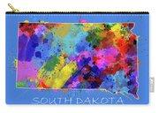 South Dakota Map Color Splatter 3 Carry-all Pouch