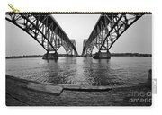 South Grand Island Bridge In Black And White Carry-all Pouch