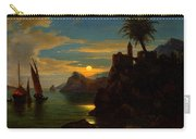 Southern Coastal View By Moonlight Carry-all Pouch