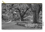 Southern Oaks In Black And White Carry-all Pouch