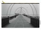 Southport Pier At Sunset With Walkway And Tram Lines Carry-all Pouch