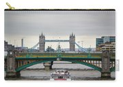 Southwark Bridge And The Tower Bridge Carry-all Pouch