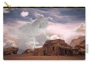 Southwest Navajo Rock House And Lightning Strikes Carry-all Pouch