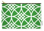 Southwestern Inspired With Border In Dublin Green Carry-all Pouch
