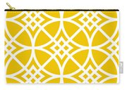 Southwestern Inspired With Border In Mustard Carry-all Pouch
