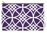 Southwestern Inspired With Border In Purple Carry-all Pouch