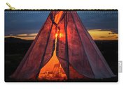 Southwestern Teepee Sunset Carry-all Pouch