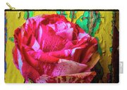Soutime Rose Against Cracked Wall Carry-all Pouch