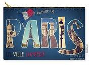 Souvernirs De Paris Carry-all Pouch