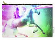 Space Cat Riding Unicorn - Laser, Tacos And Rainbow Carry-all Pouch