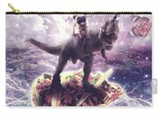 Space Pug Riding Dinosaur Unicorn - Pizza And Taco Carry-all Pouch