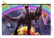 Space Pug Riding Dinosaur Unicorn - Taco And Burrito Carry-all Pouch