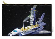 Space Shuttle With Hubble Telescope Carry-all Pouch