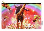 Space Sloth Riding Giraffe Unicorn - Pizza And Taco Carry-all Pouch