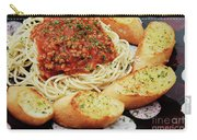 Spaghetti And Meat Sauce With Garlic Toast  Carry-all Pouch by Andee Design