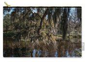 Spainsh Moss Hanging Over Pond On Middleton Place Carry-all Pouch