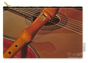 Spanish Guitar And Flute Carry-all Pouch