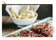 Spanish Smoked Meats Ham And Cheese Platter Starter Dish Carry-all Pouch