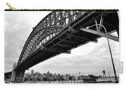 Spanning Sydney Harbour - Black And White Carry-all Pouch