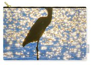 Sparkling Egret Carry-all Pouch